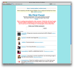 My First Tweet: People's First Words on Twitter